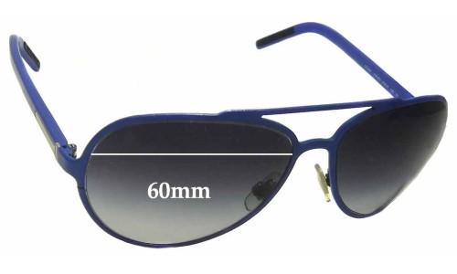 Dolce & Gabbana DG2081 Replacement Sunglass Lenses - 60mm wide