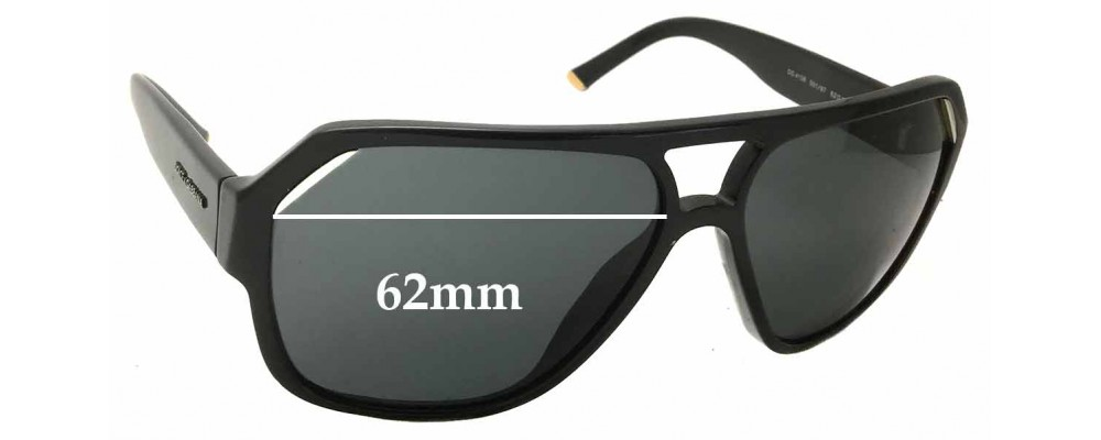 15eac0ed26bb Dolce & Gabbana DG4138 Replacement Lenses 62mm by The Sunglass Fix™