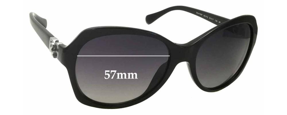 Dolce & Gabbana DG4163P Replacement Sunglass Lenses - 57mm wide