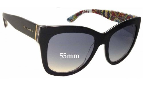 Dolce & Gabbana DG4270 Replacement Sunglass Lenses - 55mm wide