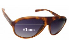 Dolce & Gabbana DG6080 Replacement Sunglass Lenses - 61mm Wide