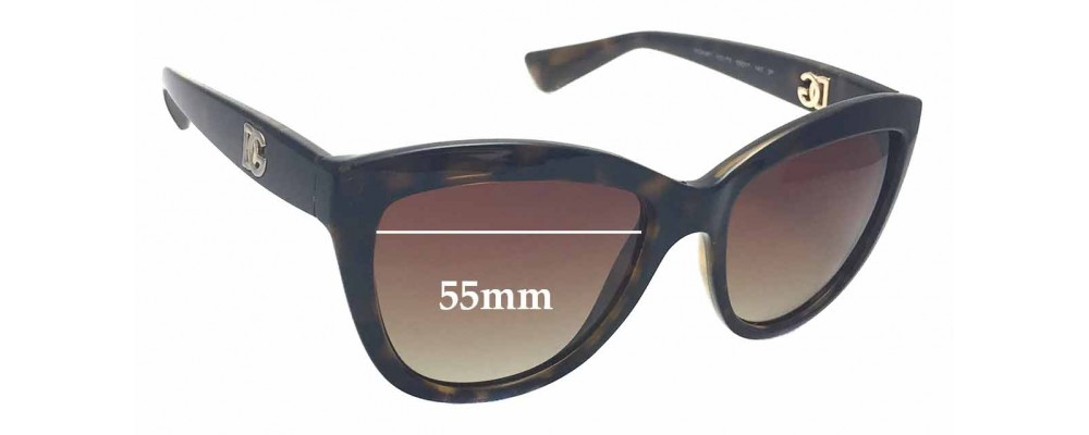 9beda3c3829fb Sunglass Fix Replacement Lenses for Dolce   Gabbana DG6087 - 55mm wide