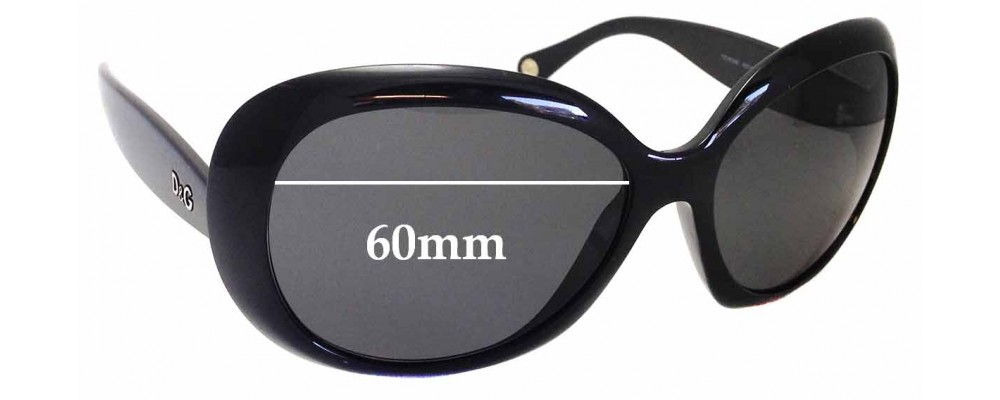 Sunglass Fix Replacement Lenses for Dolce & Gabbana DD8058 - 60mm wide
