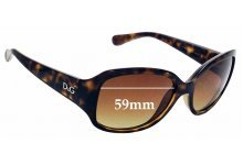 Sunglass Fix New Replacement Lenses for Dolce & Gabbana DD8065 - 59mm Wide