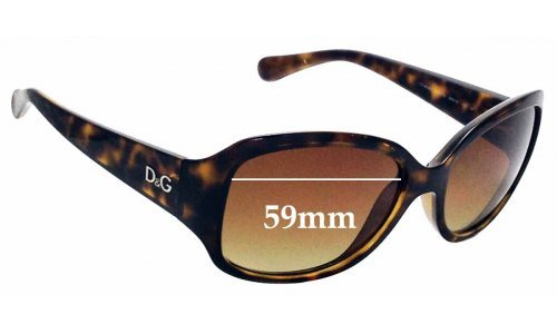 Sunglass Fix Replacement Lenses for Dolce & Gabbana DD8065 - 59mm wide