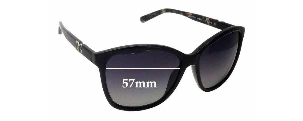 Sunglass Fix Replacement Lenses for Dolce & Gabbana DG4170P - 57mm wide