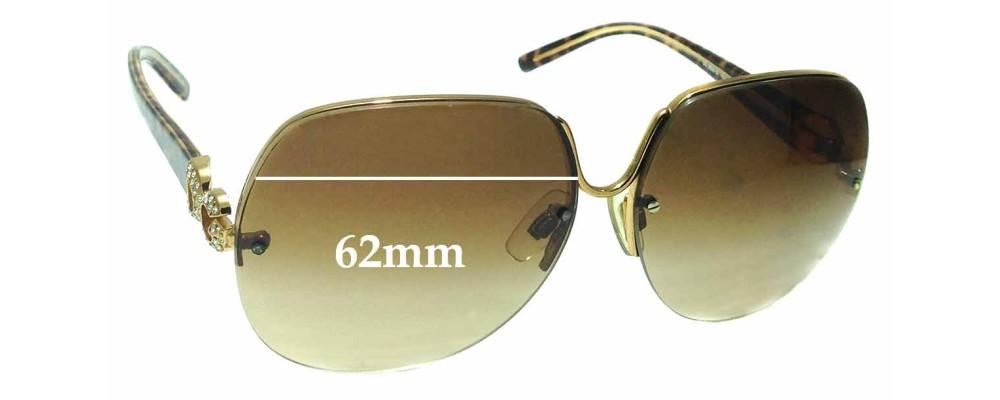 Sunglass Fix Replacement Lenses for Dolce & Gabbana DG2050-B - 62mm wide