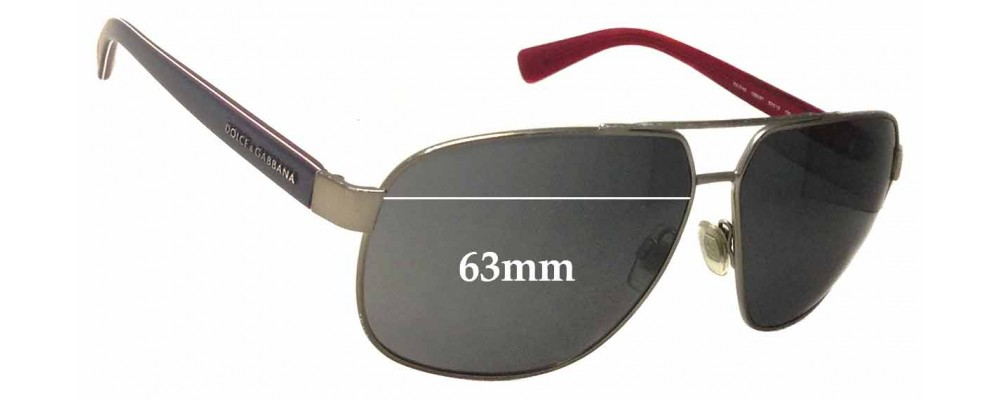 Dolce & Gabbana DG2140 Replacement Sunglass Lenses - 63mm Wide
