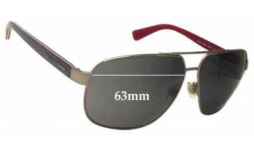 Dolce & Gabbana DG2140 Replacement Sunglass Lenses - 63mm Wide