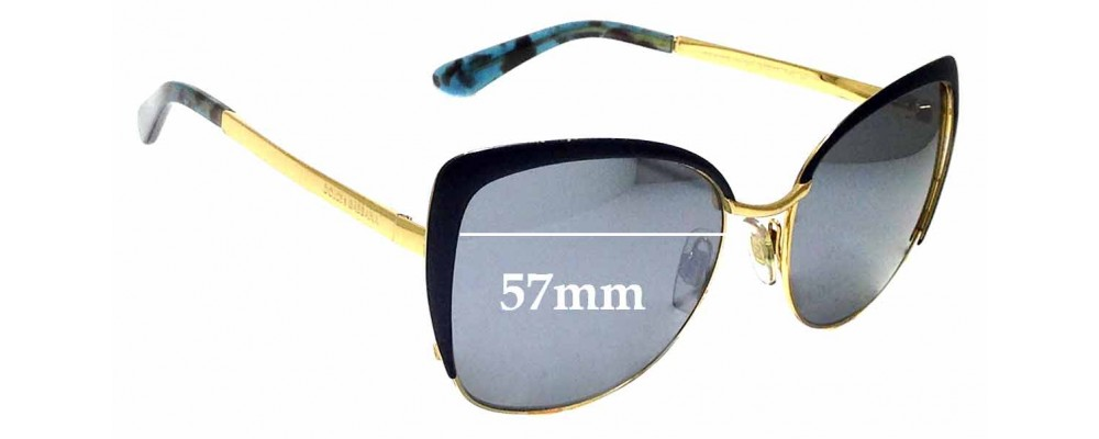 Sunglass Fix Replacement Lenses for Dolce & Gabbana DG 2143 57mm wide