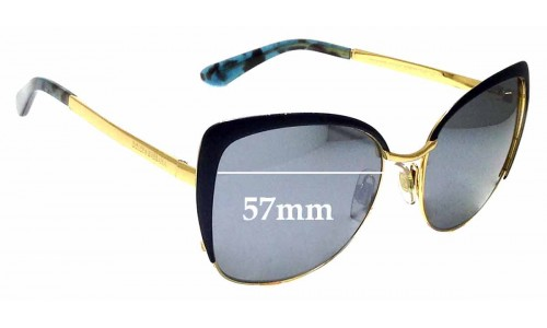 Sunglass Fix Replacement Lenses for Dolce & Gabbana DG 2143 57mm wide