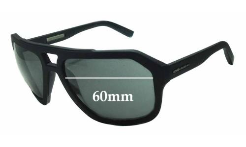 Dolce & Gabbana DG2146 Replacement Sunglass Lenses - 60mm Wide