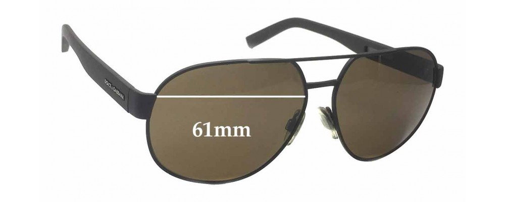 Dolce & Gabbana DG 2147 Replacement Sunglass Lenses - 61mm wide