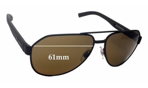 Dolce & Gabbana DG 2149 Replacement Sunglass Lenses - 61mm wide
