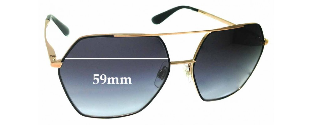 Sunglass Fix Replacement Lenses for Dolce & Gabbana DG2157 - 59mm wide