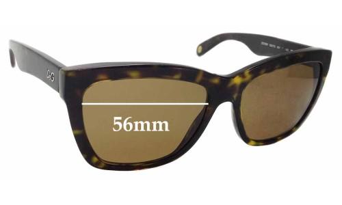Sunglass Fix Replacement Lenses for Dolce & Gabbana DG3080 - 56mm wide