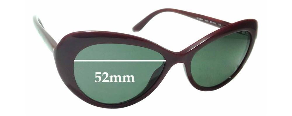 Sunglass Fix Replacement Lenses for Dolce & Gabbana DG3264 - 52mm wide