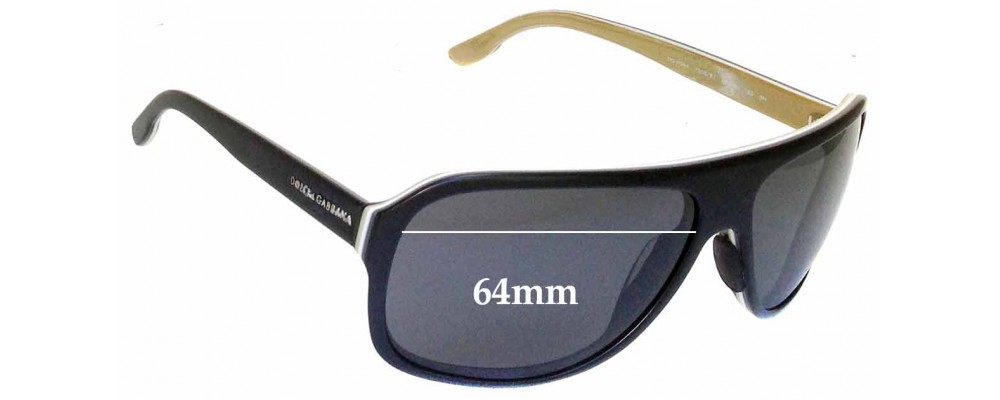 Dolce & Gabbana DG 4084 Replacement Sunglass Lenses - 64mm wide