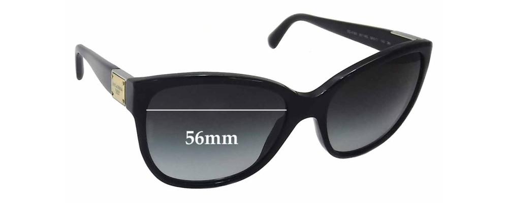 Dolce & Gabbana DG4195 Replacement Sunglass Lenses - 56mm wide