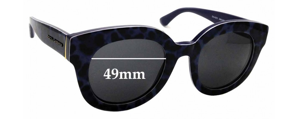 ba9a5e0f0bec5 Sunglass Fix Replacement Lenses for Dolce   Gabbana DG4235 - 49mm wide