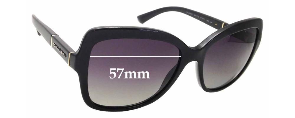 Sunglass Fix Replacement Lenses for Dolce & Gabbana DG4244 - 57mm wide