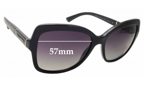 Sunglass Fix Replacement Lenses for Dolce & Gabbana DG4244 - 57mm wide