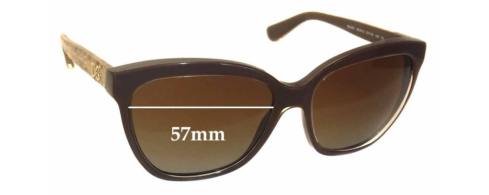 Dolce & Gabbana DG4251 Replacement Sunglass Lenses - 57mm wide