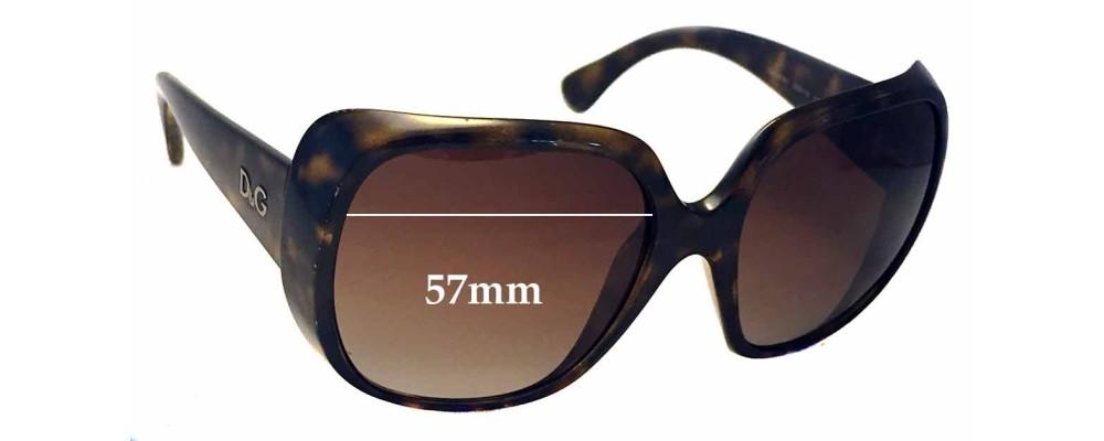 Dolce & Gabbana DG8087 Replacement Sunglass Lenses - 57mm wide
