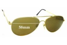 Sunglass Fix Replacement Lenses for Dollond & Aitchison Pilot 3 58mm wide