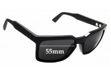 Sunglass Fix Replacement Lenses for Dragon Mr. Blonde - 55mm wide