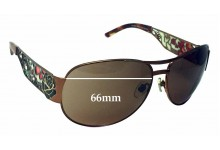 Ed Hardy EHT 902 Replacement Sunglass Lenses - 66mm wide