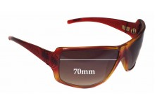 Electric Aux Replacement Sunglass Lenses - 70mm wide