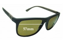 Sunglass Fix Replacement Lenses for EMPORIO ARMANI EA 4079 - 57mm wide