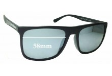 Sunglass Fix Replacement Lenses for EMPORIO ARMANI EA 4097F - 58mm wide
