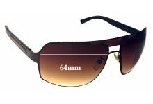 Ermenegildo Zegna SZ 3079 Replacement Sunglass Lenses - 64mm wide