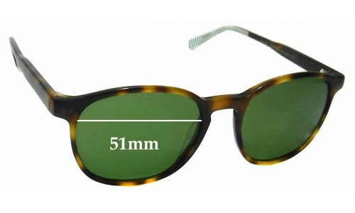 Etnia Mountauk Sun Replacement Sunglass Lenses - 51mm wide