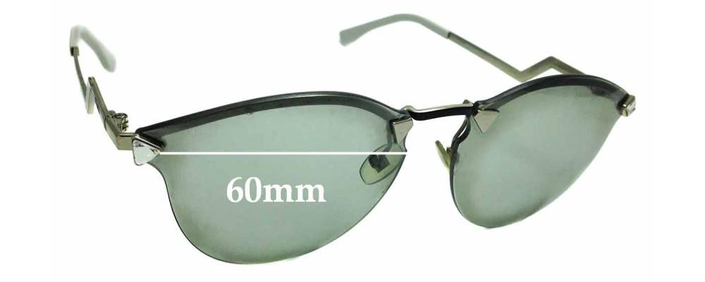 b2a68318d3 Sunglass Fix Replacement Lenses for Fendi FF 0040 S - 60mm wide