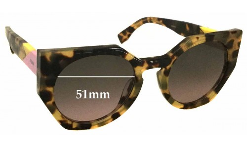 Sunglass Fix Replacement Lenses for Fendi FF 0151/S - 51mm wide
