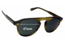 Garrett Leight Harding S Replacement Sunglass Lenses - 47mm wide