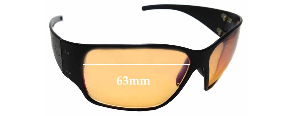 Sunglass Fix Replacement Lenses for Gatorz Fury - 63mm wide