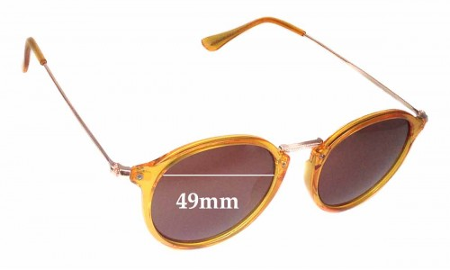 Gewgaw Eyewear SGGR040 Replacement Sunglass Lenses - 49mm wide
