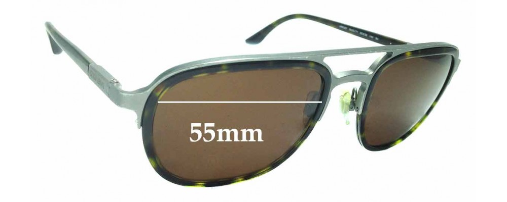 72837f2d82ef Sunglass Fix Replacement Lenses for Giorgio Armani AR6027 - 55mm wide