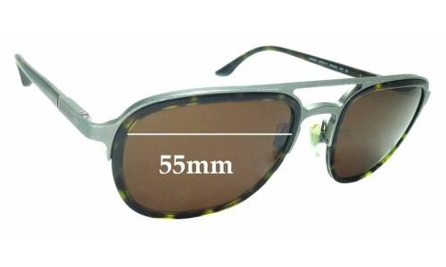 Sunglass Fix Replacement Lenses for Giorgio Armani AR6027 - 55mm wide
