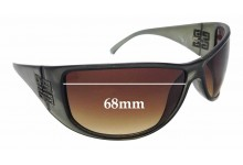 Sunglass Fix New Replacement Lenses for Givenchy SGV546 - 68mm Wide