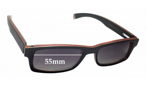 Sunglass Fix Replacement Lenses for Gold & Wood Omega 01 - 55mm wide
