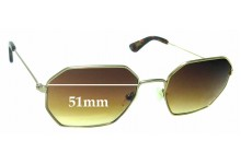 Sunglass Fix Replacement Lenses  for Graz - Stray L B 042-2 - 51mm wide