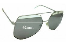 Sunglass Fix Replacement Lenses  for Grey Ant Hexcel - 62mm wide