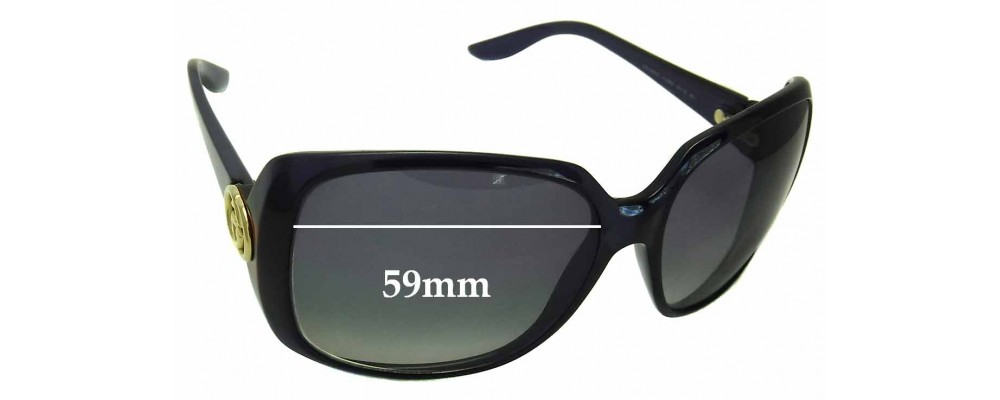 Gucci 3166 Replacement Sunglass Lenses - 59mm Wide