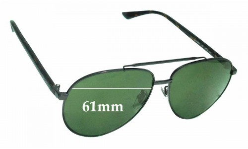 Gucci GG0043SA Replacement Sunglass Lenses - 61mm Wide