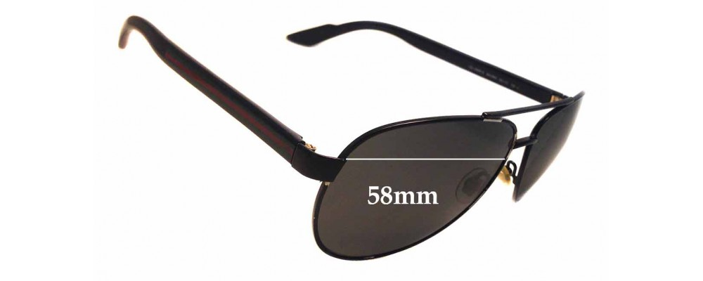 Gucci GG 2898/S Replacement Sunglass Lenses - 58mm wide